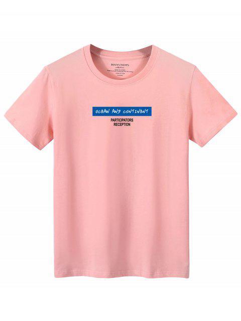 T-shirtde GraphiqueSloganGraphique - Rose clair XL Mobile