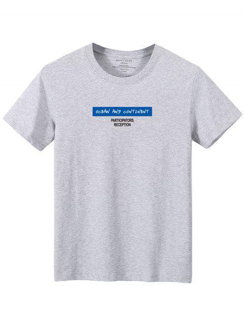 Camiseta camo de manga comprida estampa geometrica - Cinzento M Mobile