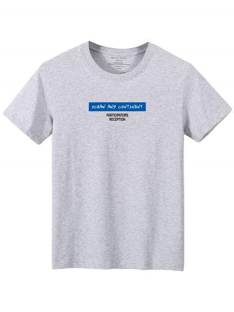 Camiseta camo de manga comprida estampa geometrica - Cinzento L Mobile