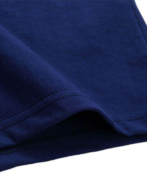 Grundlegende Buchstabe Z Graphik T-Shirt - Blau XS Mobile