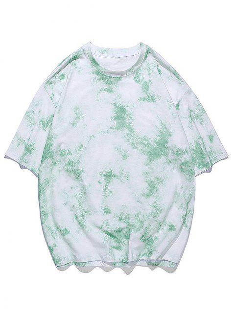 T-shirt de Manga Curta de Impressão de dye - Verde Jade 2XL Mobile