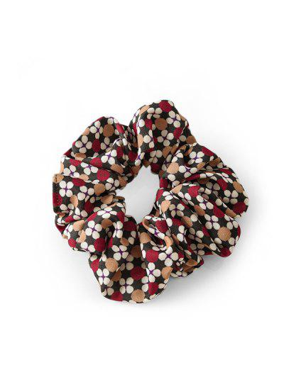 Dots Floral Print Fabric Scrunchy