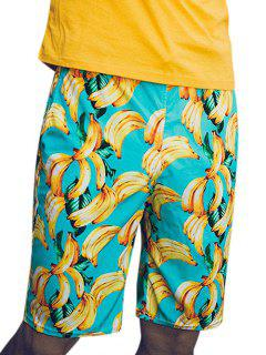 Banana Print Beach Vacation Shorts - Multi Xs
