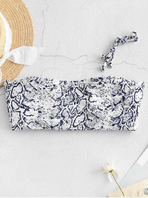 ZAFUL Leopard Snake Print Bandeau Bikini Top - متعددة-A S Mobile