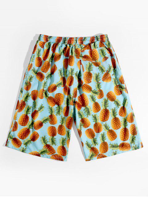 Ananas Alloverdruck Urlaub Shorts - Multi M Mobile
