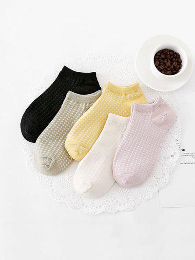 5Pairs Checkered Invisible Socks Set