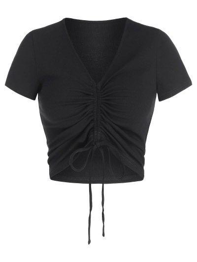 ZAFUL Camiseta Corta De Cuello V - Negro M