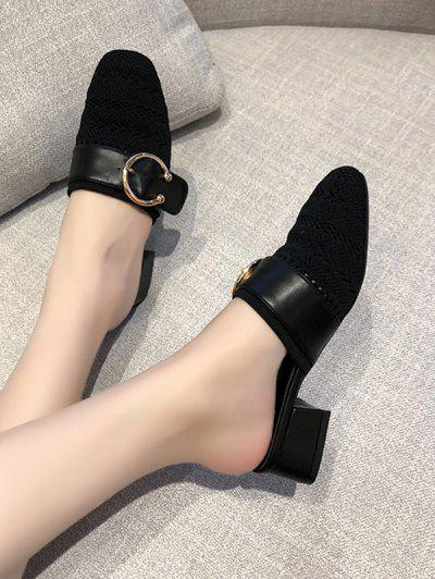 Buckled Chunky Heel Shoes
