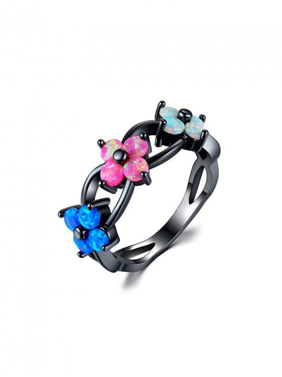 shops Flowers Shape Hollow Out Ring - MULTI US 6