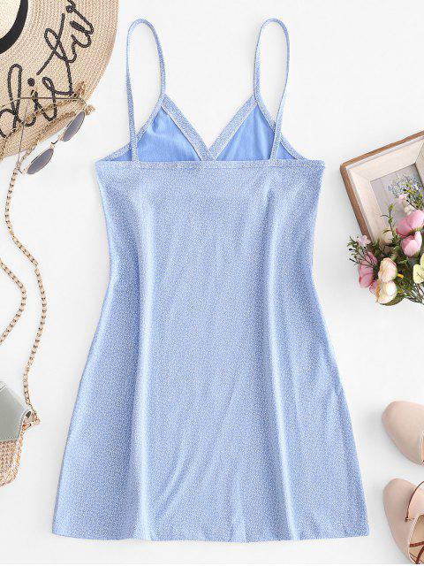 Winzige Blumen Empire Taille Cami Kleid - Hellblau L Mobile