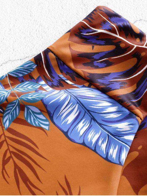 ZAFUL Bikinihose mit Hoher Taillie und Blumendruck - Multi-A S Mobile