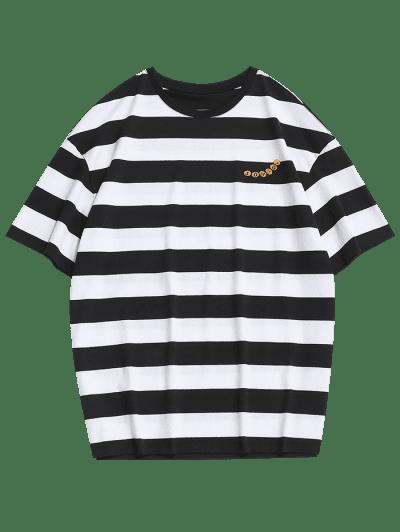 Graphic Colorblock Stripes T-shirt