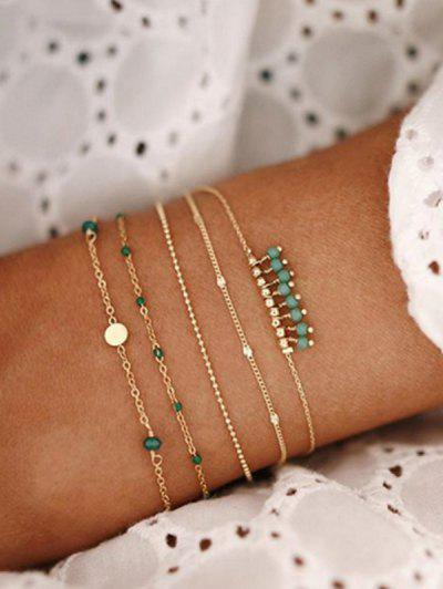 5Pcs Bohemian Beads Bracelet Set - Green