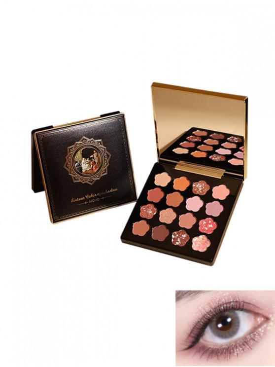 womens Floral Shaped Glitter Eyeshadow Palette - MULTI-B