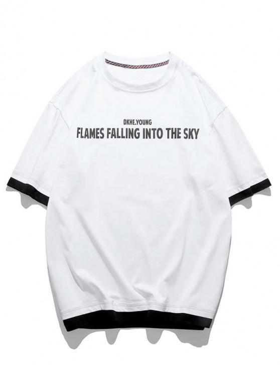 Text Grafik Künstliche Twinset T-Shirt - Weiß XL