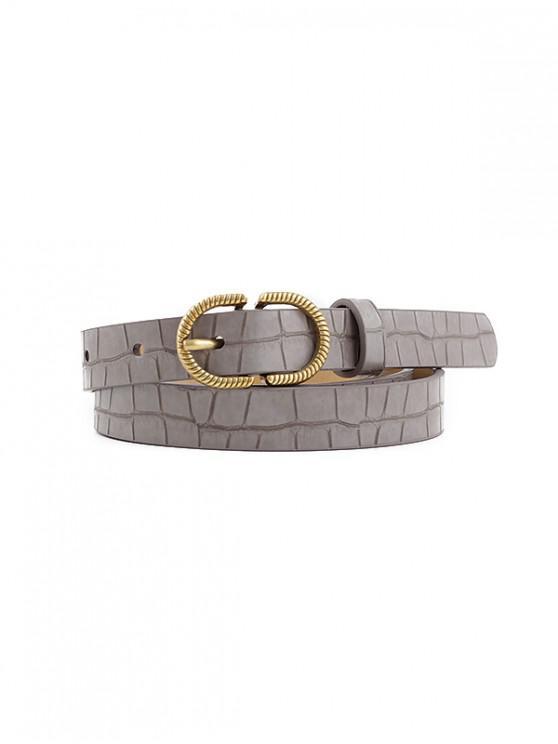 Cinturón de Hebilla Retro Textura Pin - Gris Oscuro