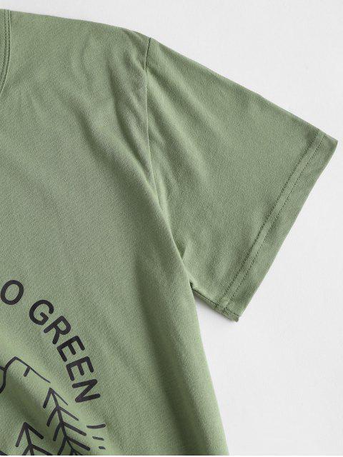 T-shirt LettreGraphique - Vert Foncé de Mer M Mobile