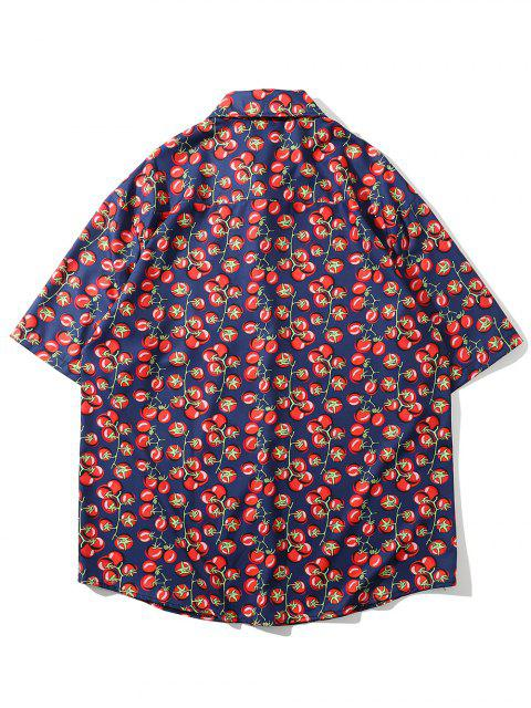 lady Tomato Allover Print Pocket Vacation Shirt - MULTI-A 2XL Mobile