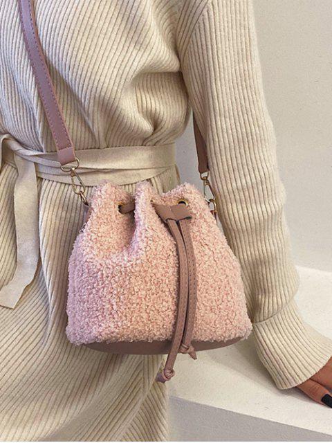 Bolsa de Mão com Cordão - Luz rosa  Mobile