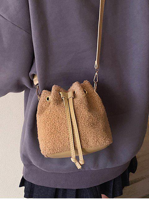 الرباط القطيفة حقيبة CROSSBODY - كاكي  Mobile