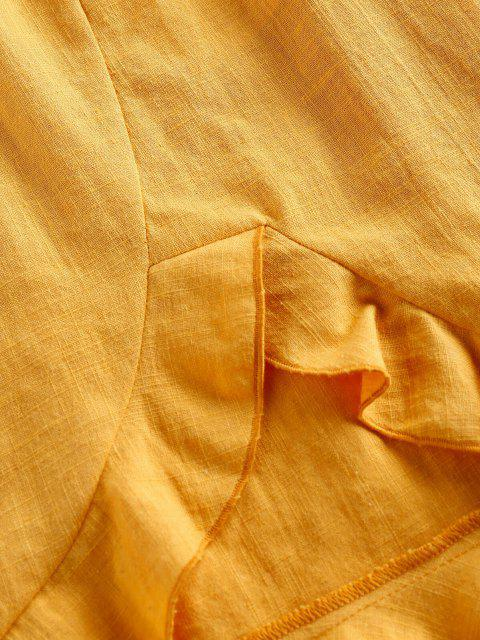 Top con Fiocco Senza Spalline e Pantaloni di ZAFUL - Giallo Luminoso M Mobile