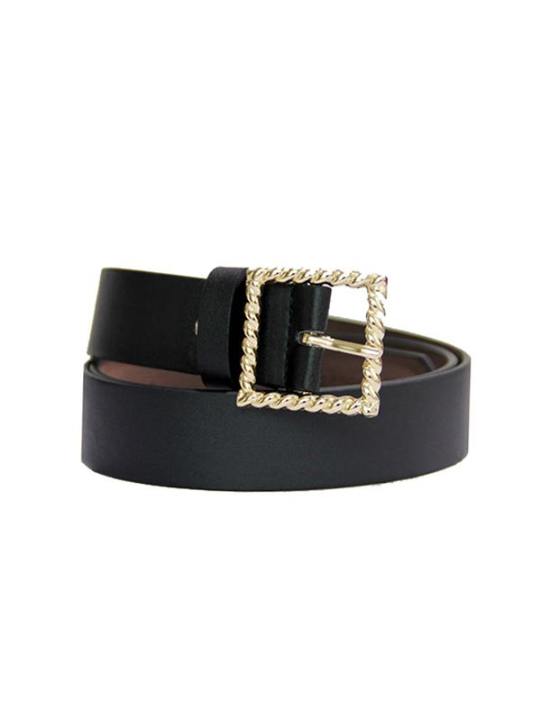 Retro Twist Square Buckle Belt