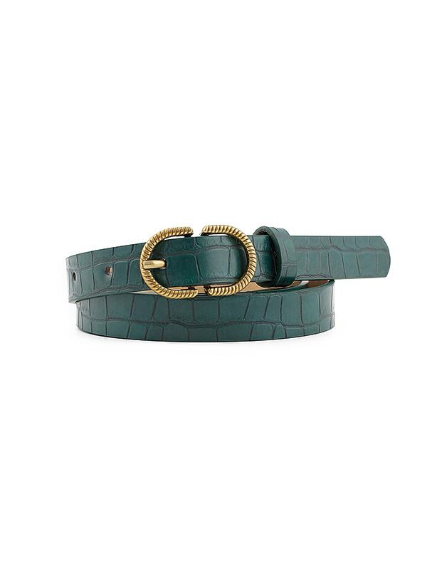 Retro Textured Pin Buckle Belt