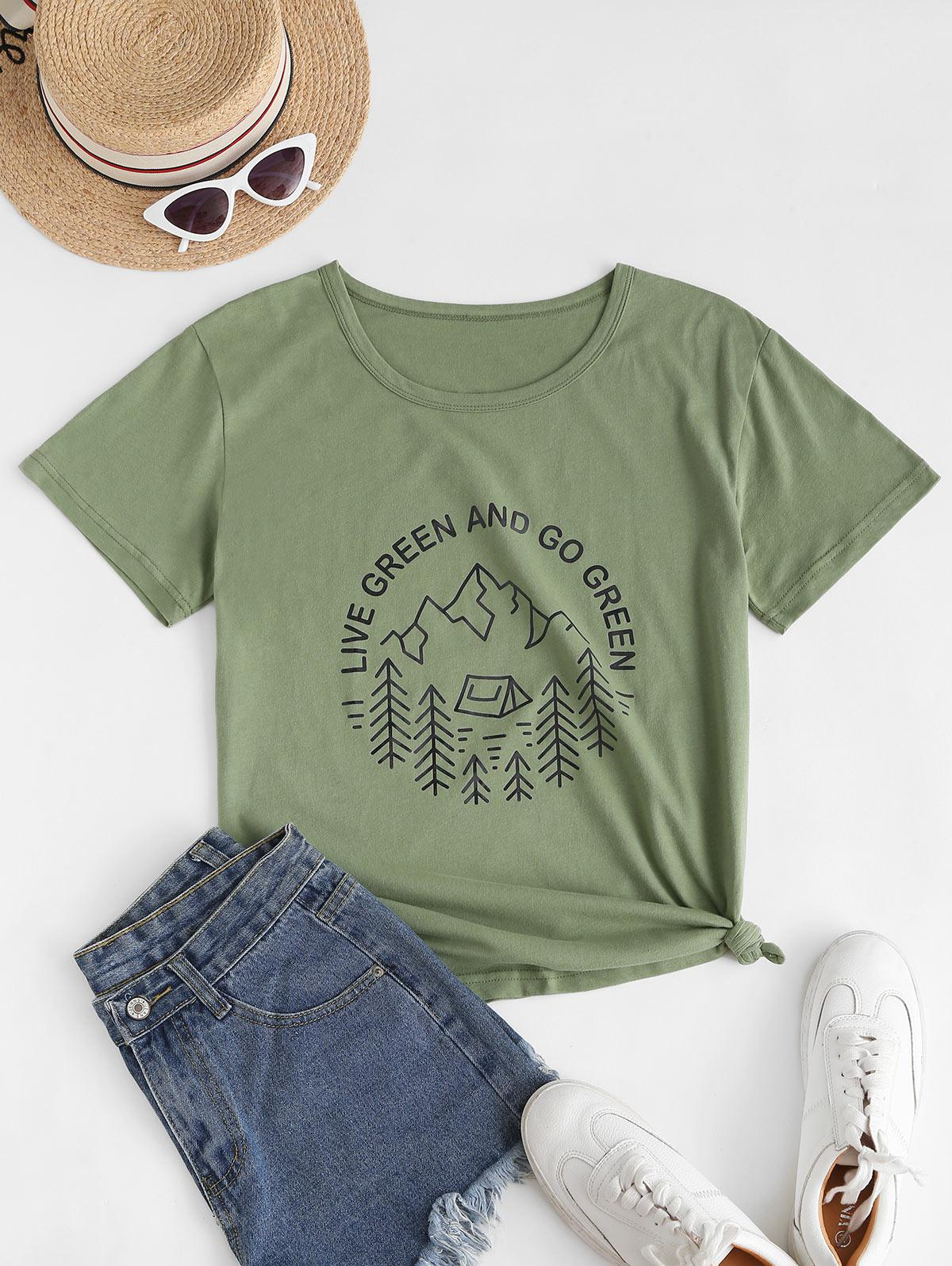 LIVE GREEN AND GO GREEN Graphic T Shirt thumbnail