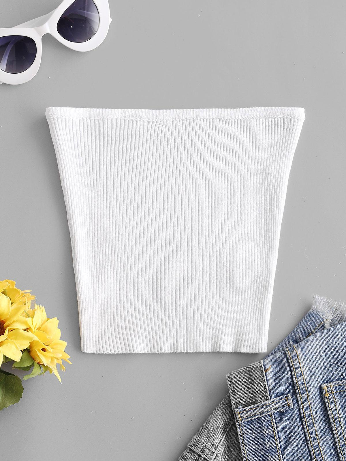 Plain Knitted Tube Top