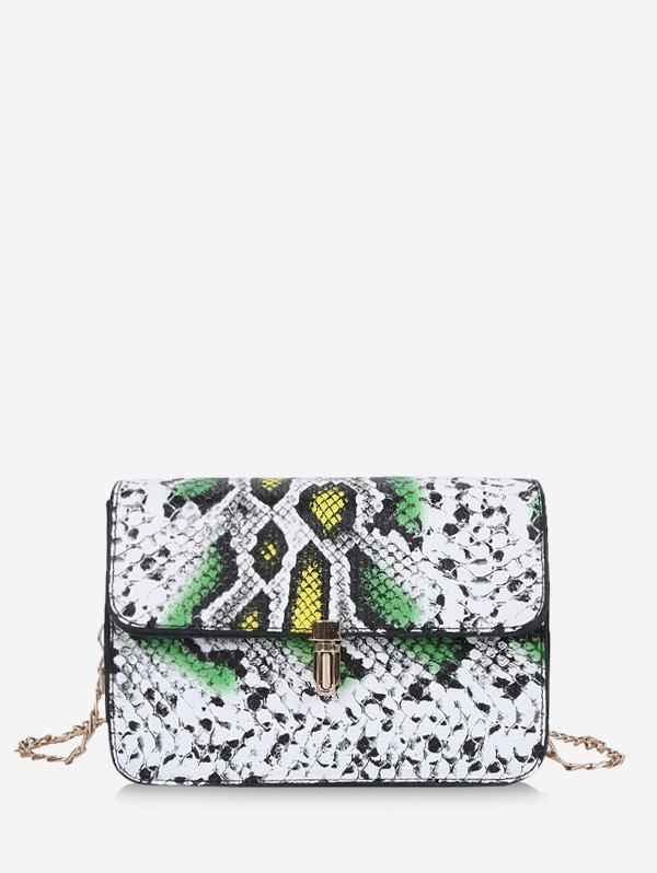 Snakeskin Pattern Chain Crossbody Bag thumbnail