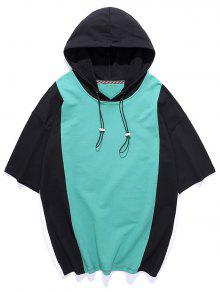 Color Blocking Hooded T shirt