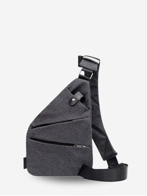 buy Leisure Solid Crossbody Chest Bag - DARK GRAY