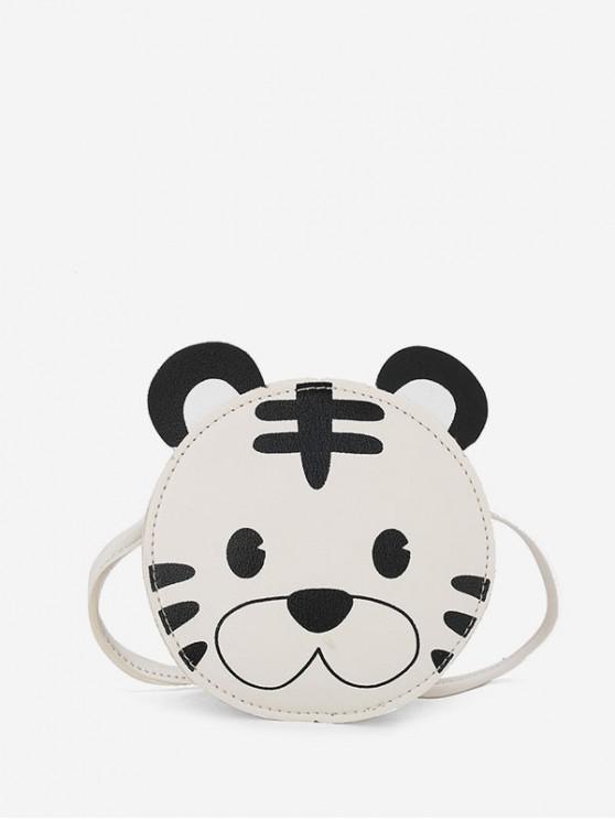 women Cartoon Animal Shape Crossbody Bag - WARM WHITE