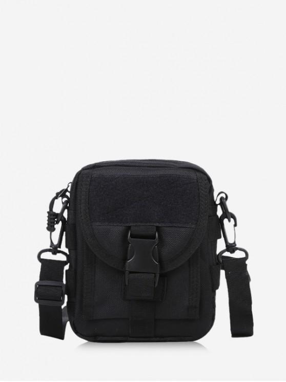 sale Casual Messenger Crossbody Bag - BLACK