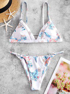 ZAFUL Maillot De Bain Bikini Noué Fleuri Imprimé - Multi-a S