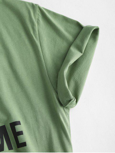 Angezogene auf Dem T-Shirt mit Kurzen Ärmeln - Grüne Zwiebel L Mobile