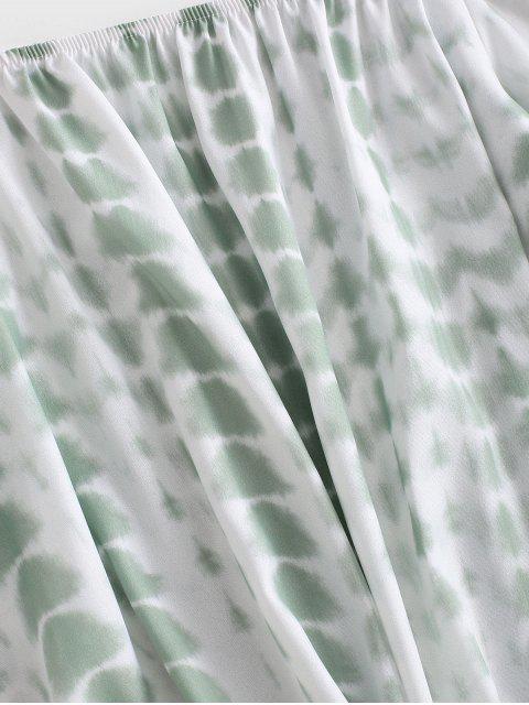 hot Off Shoulder Tie Dye Blouse - GREEN XL Mobile