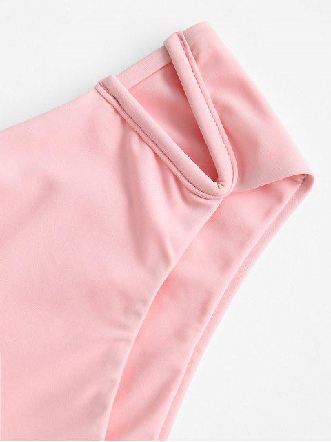 ZAFUL V-Kabel Bikini Unterteile mit Hoher Taille - Flamingo Rosa M Mobile