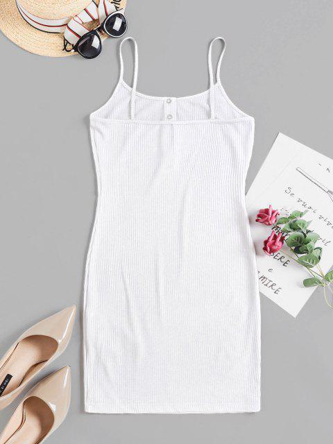 women ZAFUL Solid Color Bodycon Cami Dress - MILK WHITE XL Mobile