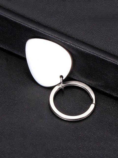 Geometric Pattern Stainless Steel Keyring - Multi-A  Mobile