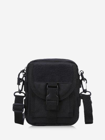 Casual Messenger Crossbody Bag - Black