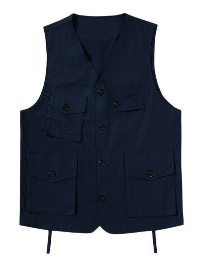Button Up Multi Flap Pockets Fisher Vest