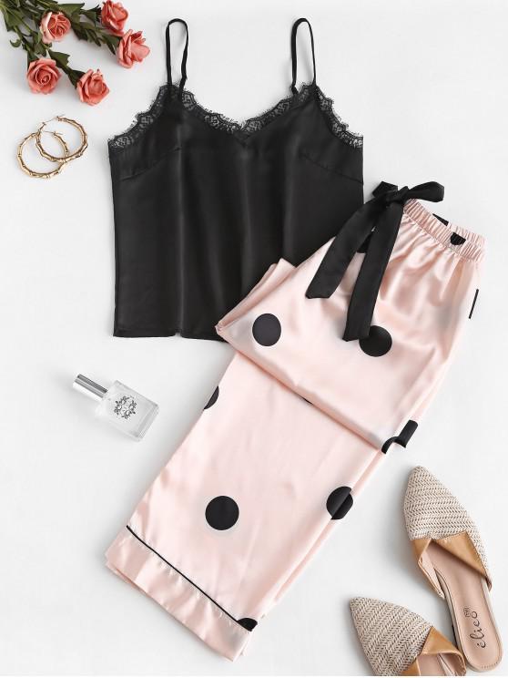 Conjunto de Pijama de Cami de Pontos de Polka para Mulheres - Multi S