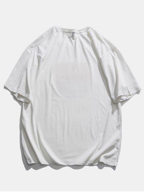 T-Shirt Basic con Grafica - Bianca 2XL Mobile