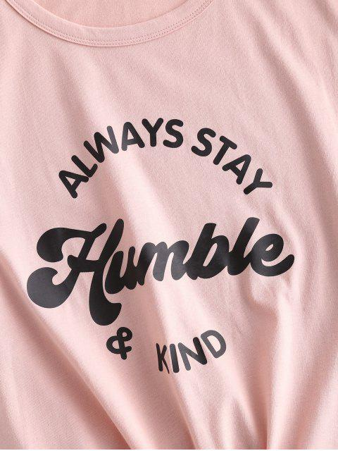 T-shirt LettreGraphique - Rose  L Mobile