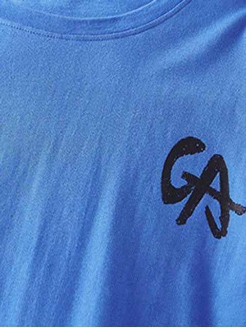 Carta de Gráfica Camiseta Básico - Azul M Mobile