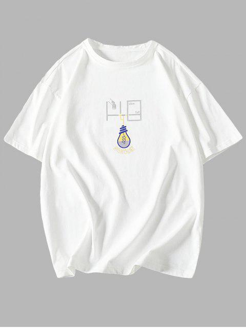 T-Shirt Grafica con Maniche Corte - Bianca M Mobile