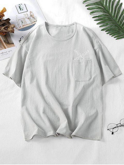 Camisa de um com Padrão de Letras - Cinzento 2XL Mobile