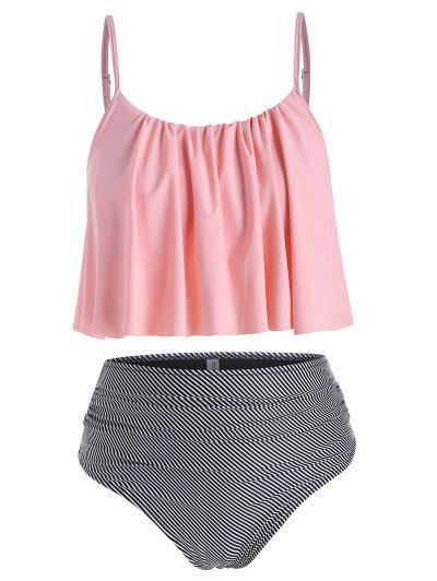 Striped Plus Size Tankini Swimwear