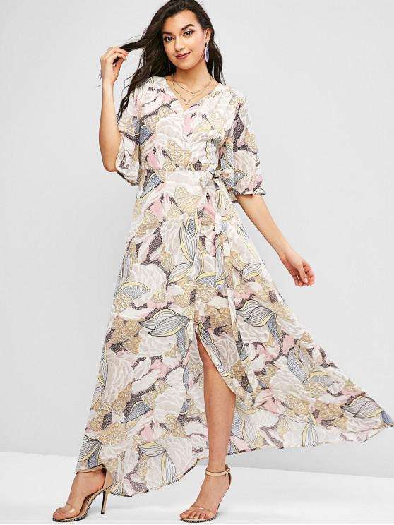 sale Floral Beach Wrap Maxi Dress - MULTI-A L